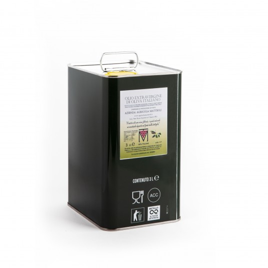 Extra Virgin Olive Oil - 3 lt can