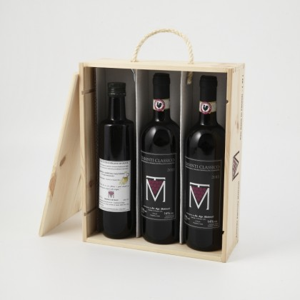 Chianti Classico 2014 (75 cl x 2) - Extra Virgin Olive Oil (50 cl x 1) - 3 bottles
